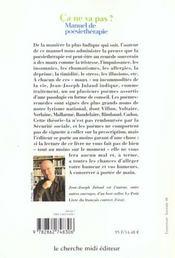 Ca Ne Va Pas ? Manuel De Poesietherapie - 4ème de couverture - Format classique