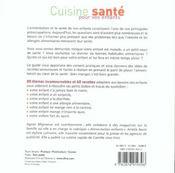 Cuisine Sante Pour Vos Enfants ; 60 Recettes Pour Des Petits Anges En Pleine Forme - 4ème de couverture - Format classique