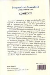 Les marguerites 1547 ; comédies - 4ème de couverture - Format classique