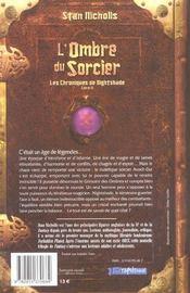 Les Chroniques de Nightshade. Livre 2 : L'ombre du sorcier. - 4ème de couverture - Format classique