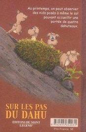 Mon carnet de voyage, sur les pas du dahu - 4ème de couverture - Format classique