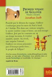 Premier voyage de Gulliver ; voyage à Lilliput - 4ème de couverture - Format classique