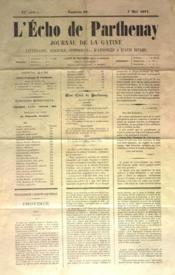 Echo De Parthenay (L') N°19 du 07/05/1871 - Couverture - Format classique