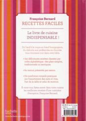 Recettes faciles - 4ème de couverture - Format classique