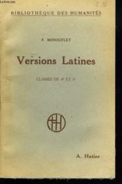 VERSIONS LATINES (125 TEXTES) CLASSES DE 4e ET DE 3e. 7e EDITION. - Couverture - Format classique