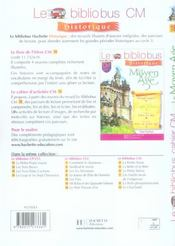CM1, CM2 ; le Moyen-âge ; cahier d'activités - 4ème de couverture - Format classique
