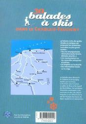 30 Balades A Skis Dans Le Chablais Faucigny - 4ème de couverture - Format classique