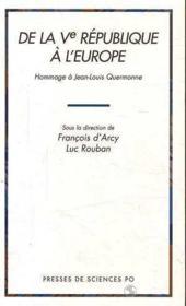 De La Cinquieme Republique A L Europe - Couverture - Format classique