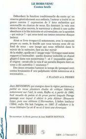 Hors-Venu (Le) Contes Brefs - 4ème de couverture - Format classique