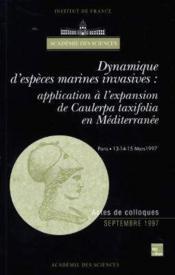 Dynamique d'especes marines invasives : application a l'expansion de caulerpa taxifolia en mediterra - Couverture - Format classique