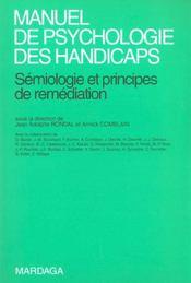 Manuel de psychologie des handicaps ; sémiologie et principes de remédiation - Intérieur - Format classique