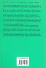 Manuel de psychologie des handicaps ; sémiologie et principes de remédiation - 4ème de couverture - Format classique