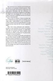 Etude Du Cahier Bleu D'Andre Juillard Une Approche Narratologique De La Bande Dessinee - 4ème de couverture - Format classique