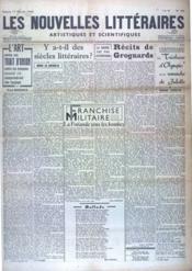 Nouvelles Litteraires (Les) N°905 du 17/02/1940 - Couverture - Format classique