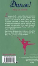 Danse ! T.12 ; Nina se révolte - 4ème de couverture - Format classique