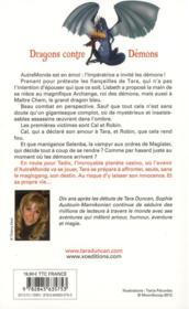 Tara Duncan t.10 ; dragons contre démons - 4ème de couverture - Format classique