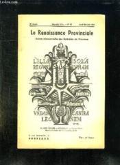 La Renaissance Provinciale N° 98 Avril Mai Juin 1952. Blason Vinaigre De Bordeaux. - Couverture - Format classique