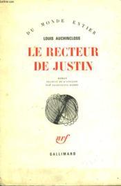 Le Recteur De Justin. - Couverture - Format classique