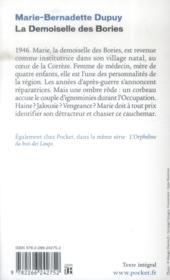 La demoiselle des Bories - 4ème de couverture - Format classique