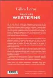 Dans les westerns - 4ème de couverture - Format classique