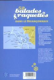 52 balades à raquettes dans le Briançonnais - 4ème de couverture - Format classique