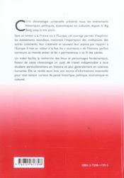 Chronologie Universelle Du Big Bang A Nos Jours - 4ème de couverture - Format classique