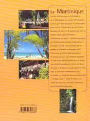 La Martinique - 4ème de couverture - Format classique