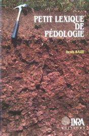 Petit Lexique De Pedologie - Intérieur - Format classique