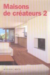 Maisons de createurs 2 - Couverture - Format classique