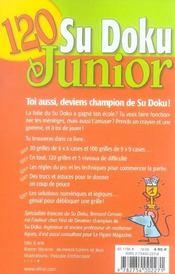 120 Sudoku Junior T.1 - 4ème de couverture - Format classique