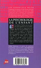 Psychologie De L'Enfant (La) - 4ème de couverture - Format classique