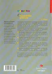 Memento Comptabilite Generale, 4eme Edition - 4ème de couverture - Format classique