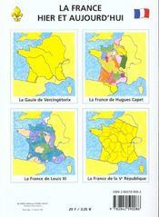 L'histoire de france ; chronologie ; de vercingétorix à la Vème république - 4ème de couverture - Format classique