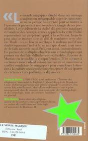 Oeuvres 1 Le Monde Magique - 4ème de couverture - Format classique