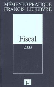 Memento fiscal - Intérieur - Format classique