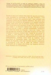 Discours Indirect Libre Au Risque De La Grammaire (Le) Le Cas De L'An Lais - 4ème de couverture - Format classique