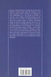 Un Siecle D'Architecture Et D'Urbanisme A Bruxelle 1900-2000 - 4ème de couverture - Format classique