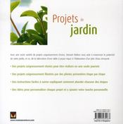 Projets de jardin - 4ème de couverture - Format classique