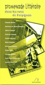 Promenade litteraire dans les rues de perpignan - Couverture - Format classique