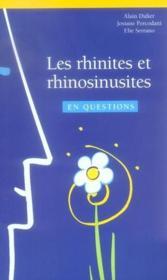 Les rhinites et rhinosinusites en questions - Couverture - Format classique