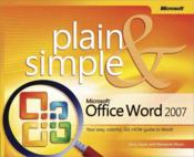 Vente livre :  Microsoft Office Word 2007 Plain and Simple  - Marianne Moon
