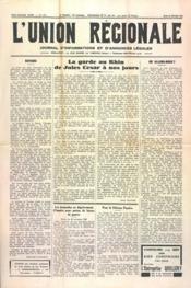 Union Regionale (L') N°1121 du 22/02/1940 - Couverture - Format classique