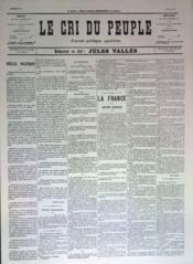 Cri Du Peuple (Le) N°68 du 08/05/1871 - Couverture - Format classique
