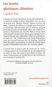 Trente glorieuses chinoises - 4ème de couverture - Format classique