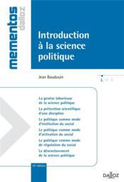 Introduction à la science politique (10e édition) - Couverture - Format classique