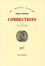 Corrections  - Thomas Bernhard