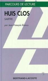 Huis clos, de Jean-Paul Sartre - Couverture - Format classique