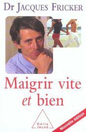 Maigrir Vite Et Bien - Intérieur - Format classique