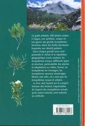 Guide Des Ecosystemes De La Terre - 4ème de couverture - Format classique