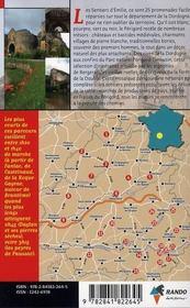 Les Sentiers D'Emilie ; Emilie Dordogne - 4ème de couverture - Format classique